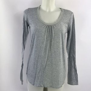 7 For All Mankind Grey Long Sleeve Top Size Small